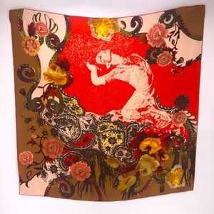 Christian Lacroix Paris 100% Silk Scarf Made Italy